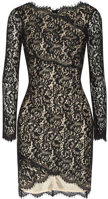 Lover Wrap-effect lace mini dress