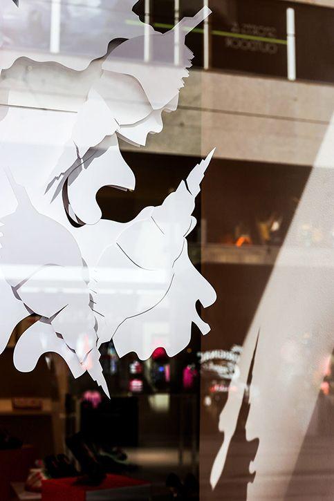 Törnroos x Simberg / Set Design, Minna Parikka, window display, paper, bunny, shoes, fashion