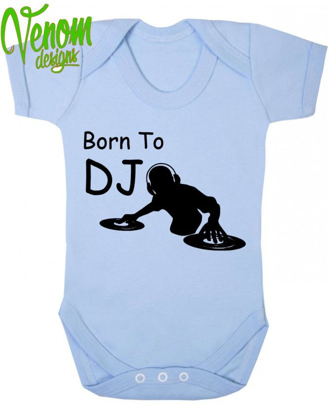 Born to Be A DJ Funny Babygrow Babies Gift Boy//Girl Vest Babies