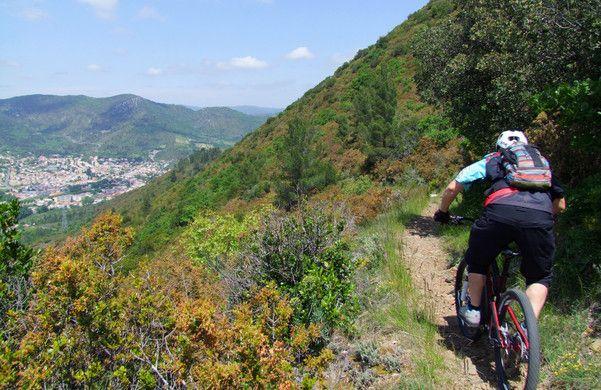 Espace VTT Aude en Pyrénées - Descente Bitrague - Quillan