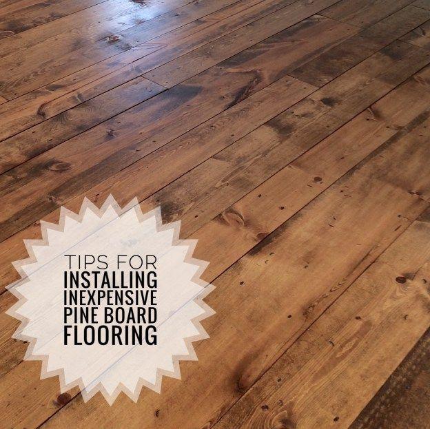 Inexpensive Wood Flooring Using Pine Boards