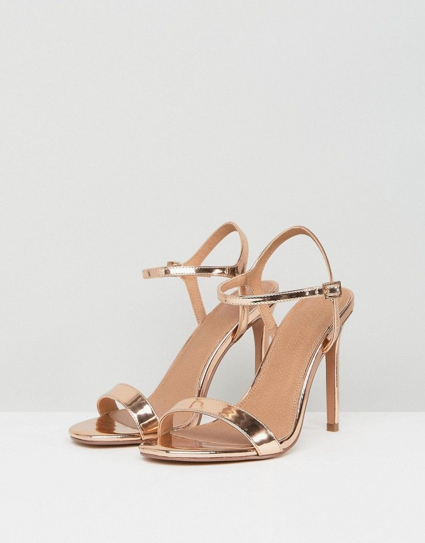 d46ea06aa25 DESIGN Wide Fit Hands Down barely there heeled sandals in 2019 ...