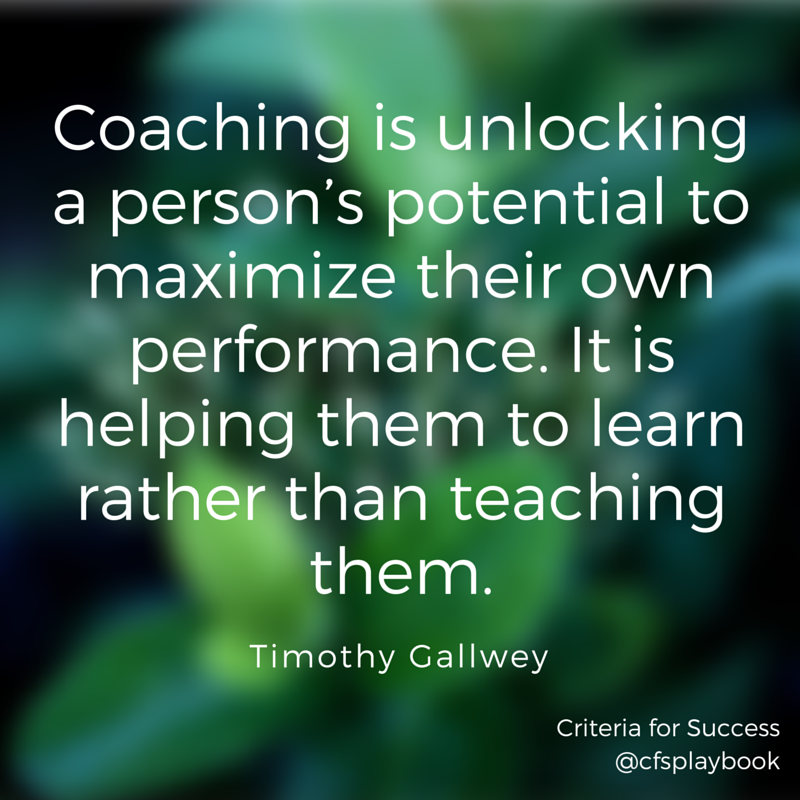 Coaching Quotes Custom 30 Inspirational Quotes On Sales Coaching  Criteria For Success