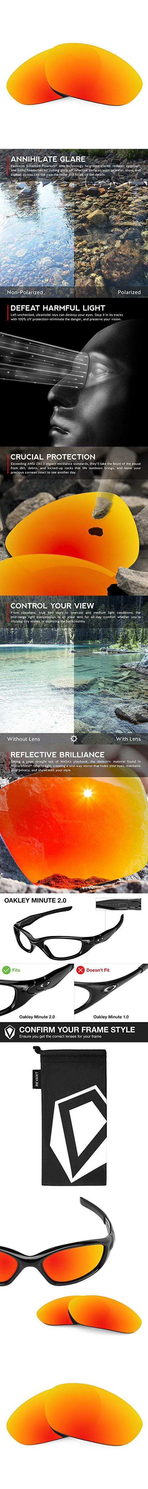756b8f694c Revant Lenses for Oakley Minute 2.0 Polarized Fire Red