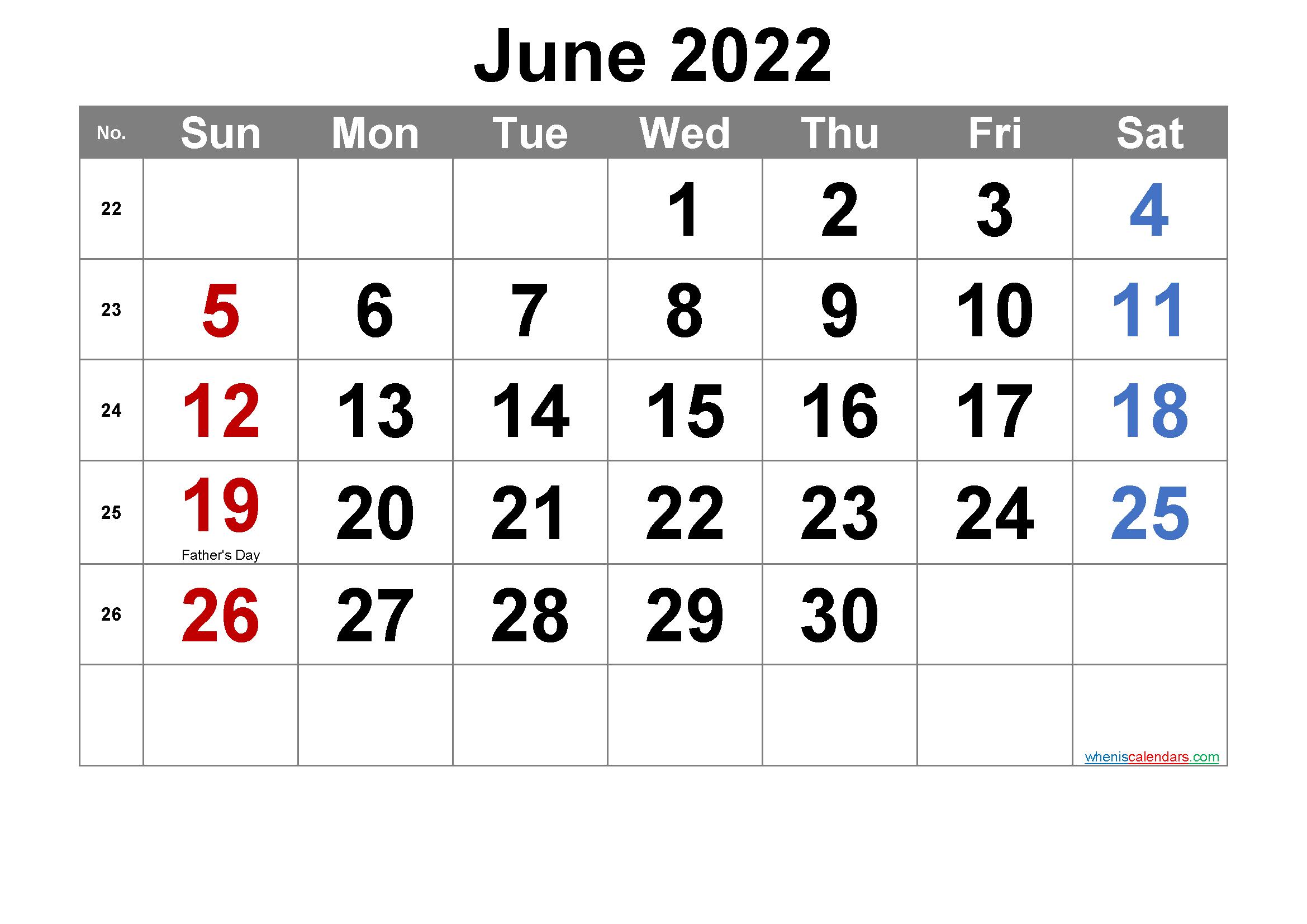 Blank Calendar For June 2022.Free Printable June 2022 Calendar Pdf And Png Calendar Printables Printable Calendar Template 2021 Calendar