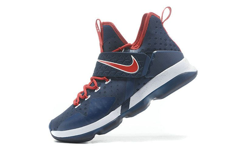 f51f3a7d2969b Official 2018 New Arrival LeBron 14 Midnight Navy University Red ...
