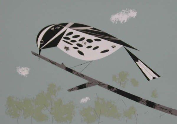 Black & White Warbler - Ford Times Silkscreen Print