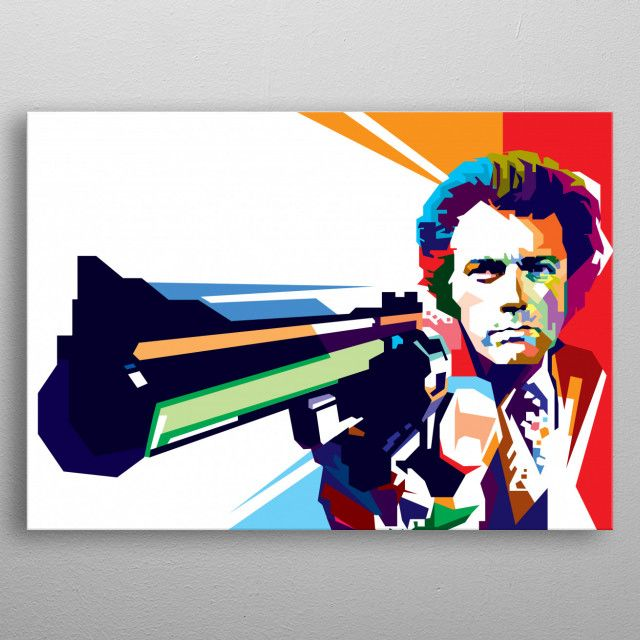 Posters with WPAP art style modern illustration designs for home interiors metal poster   Displate thumbnail