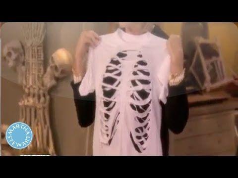 DIY Skeleton T-Shirt - Martha Stewart Halloween related - martha stewart halloween ideas
