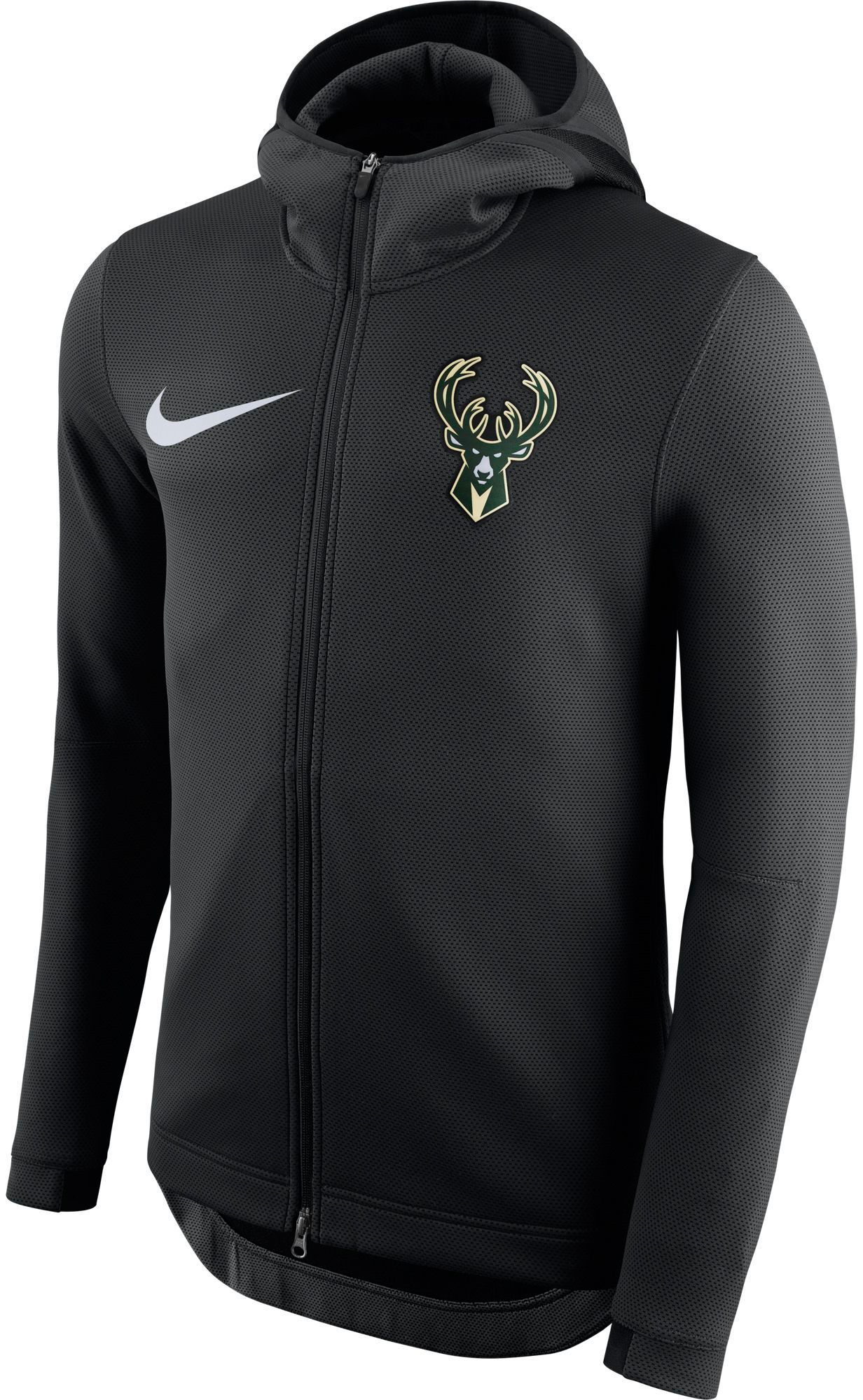 a3e128a9f08d Nike Men s Milwaukee Bucks On-Court Therma Flex Showtime Full-Zip Hoodie