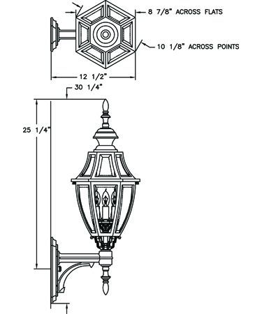 Hanover lantern b13410 augusta medium 3 light outdoor wall light hanover lantern b13410 augusta medium 3 light outdoor wall light aloadofball Images