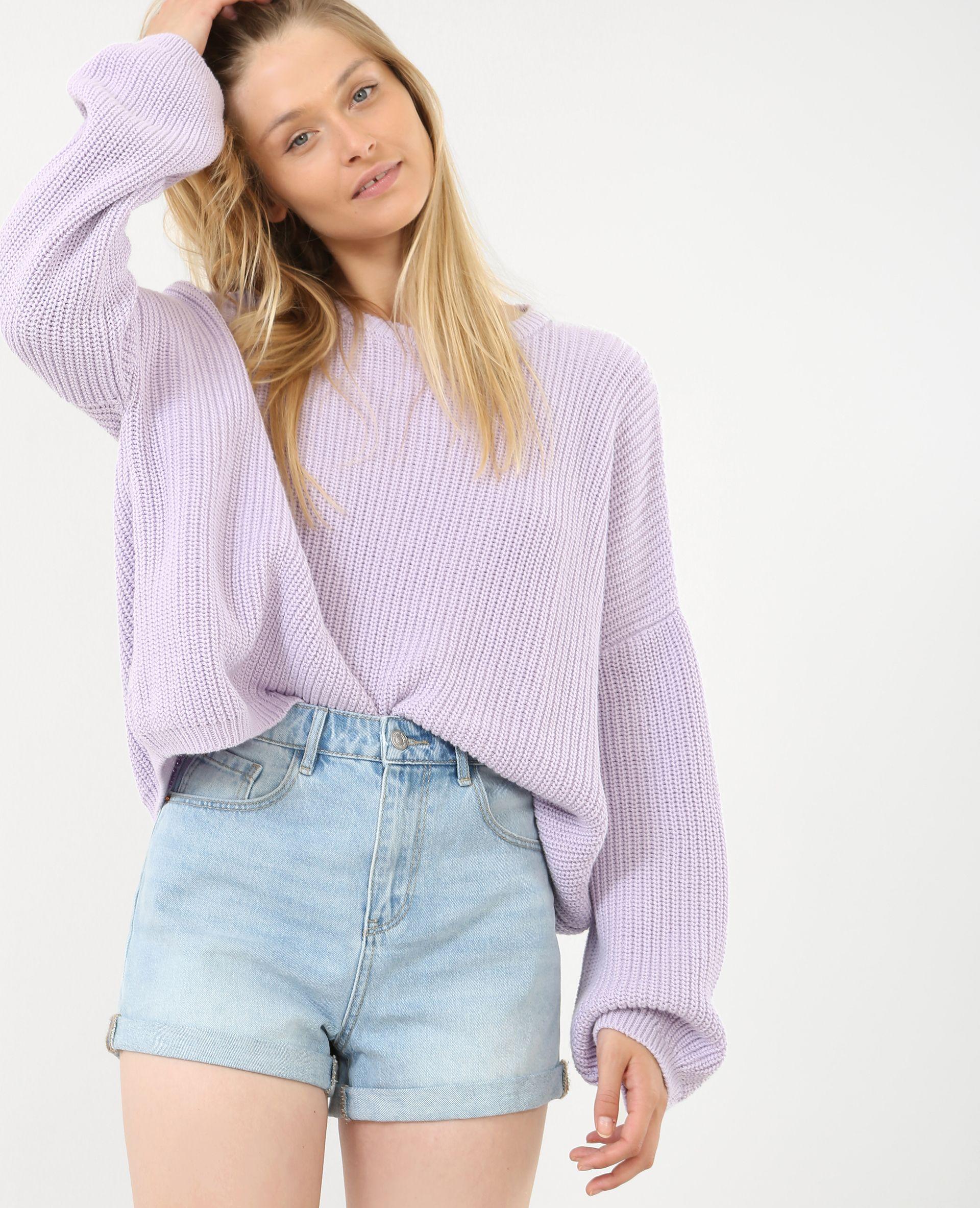 Jersey oversize - Un jersey oversize que podrás combinar con un pantalón o  una falda aj