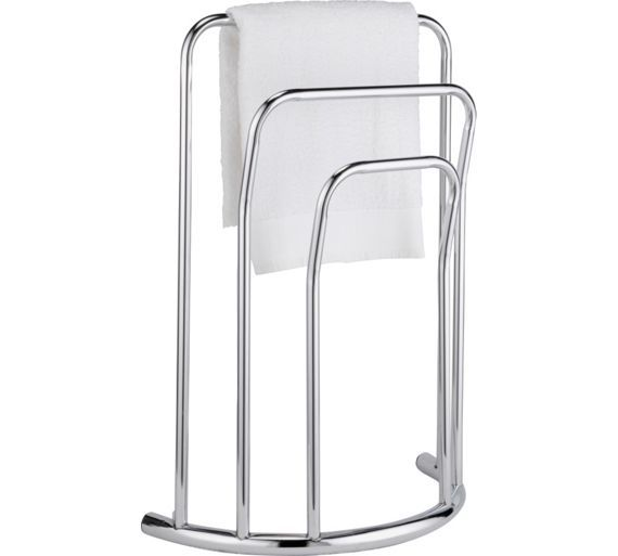 Home Curved 3 Bar Towel Rail Chrome At Argos Co Uk