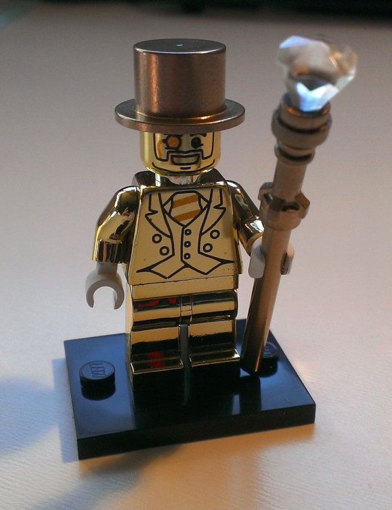 Custom Lego Mr Gold Replica Minifigure - Chrome Body and painted ...