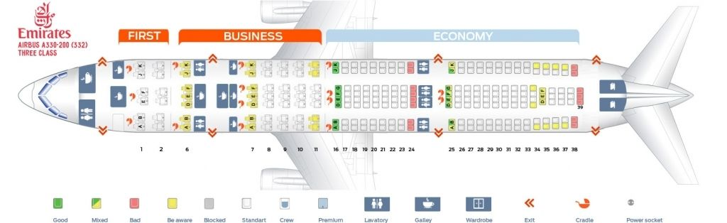 Emirates A380 Seating Plan Interior