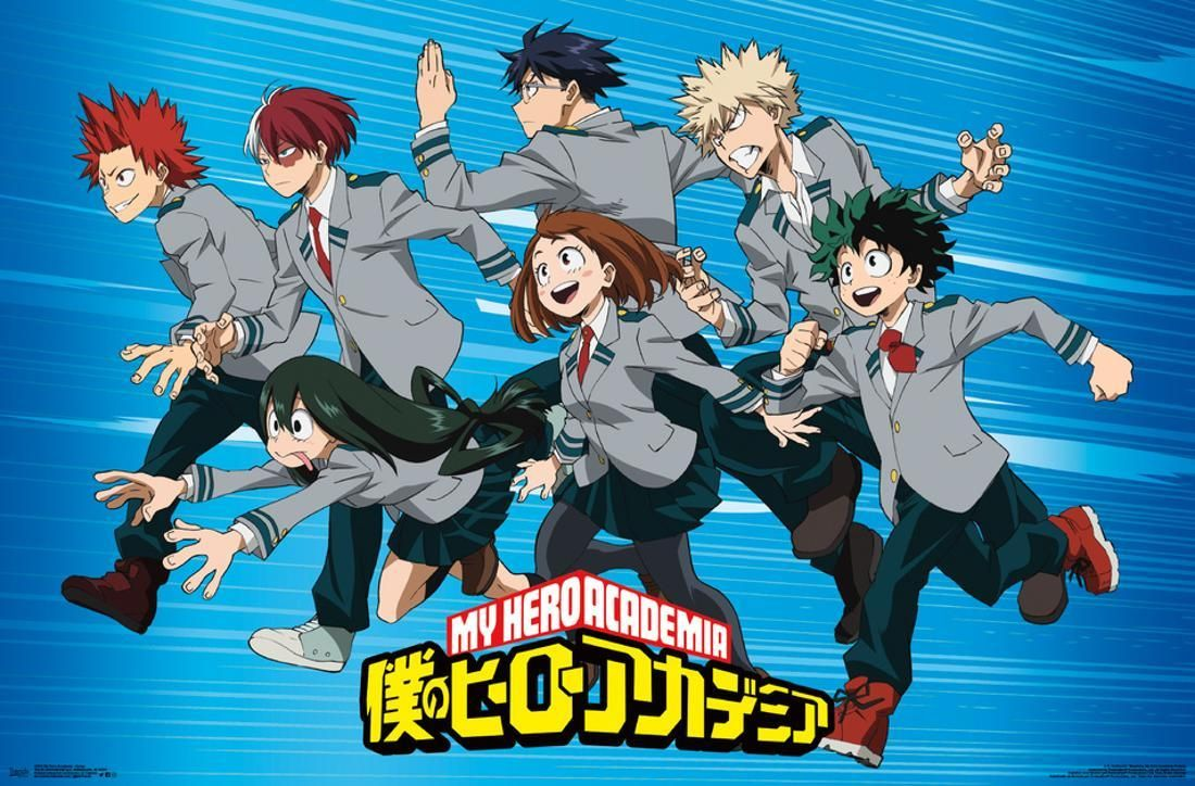 My Hero Academia Group Poster 34x22 5 Walmart Com In 2021 Boku No Hero Academia Hero My Hero