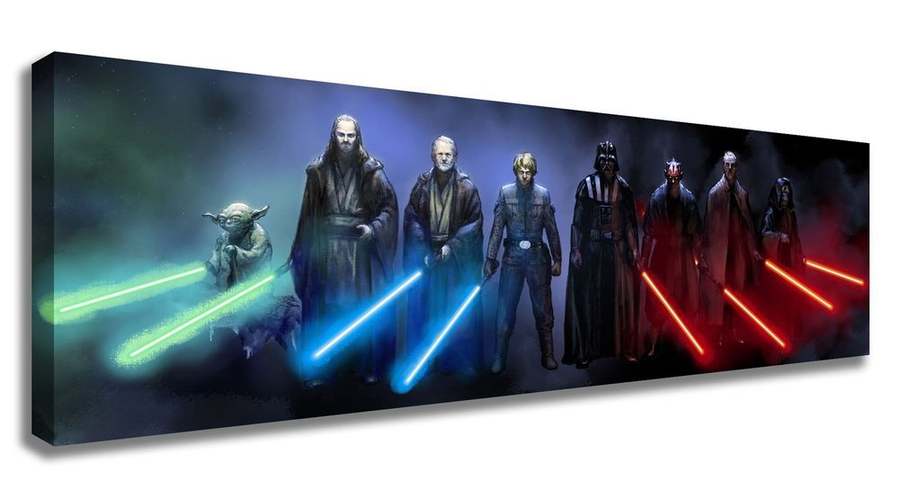 star wars wall art wars vii the awakens jedi and sith canvas wall 11702