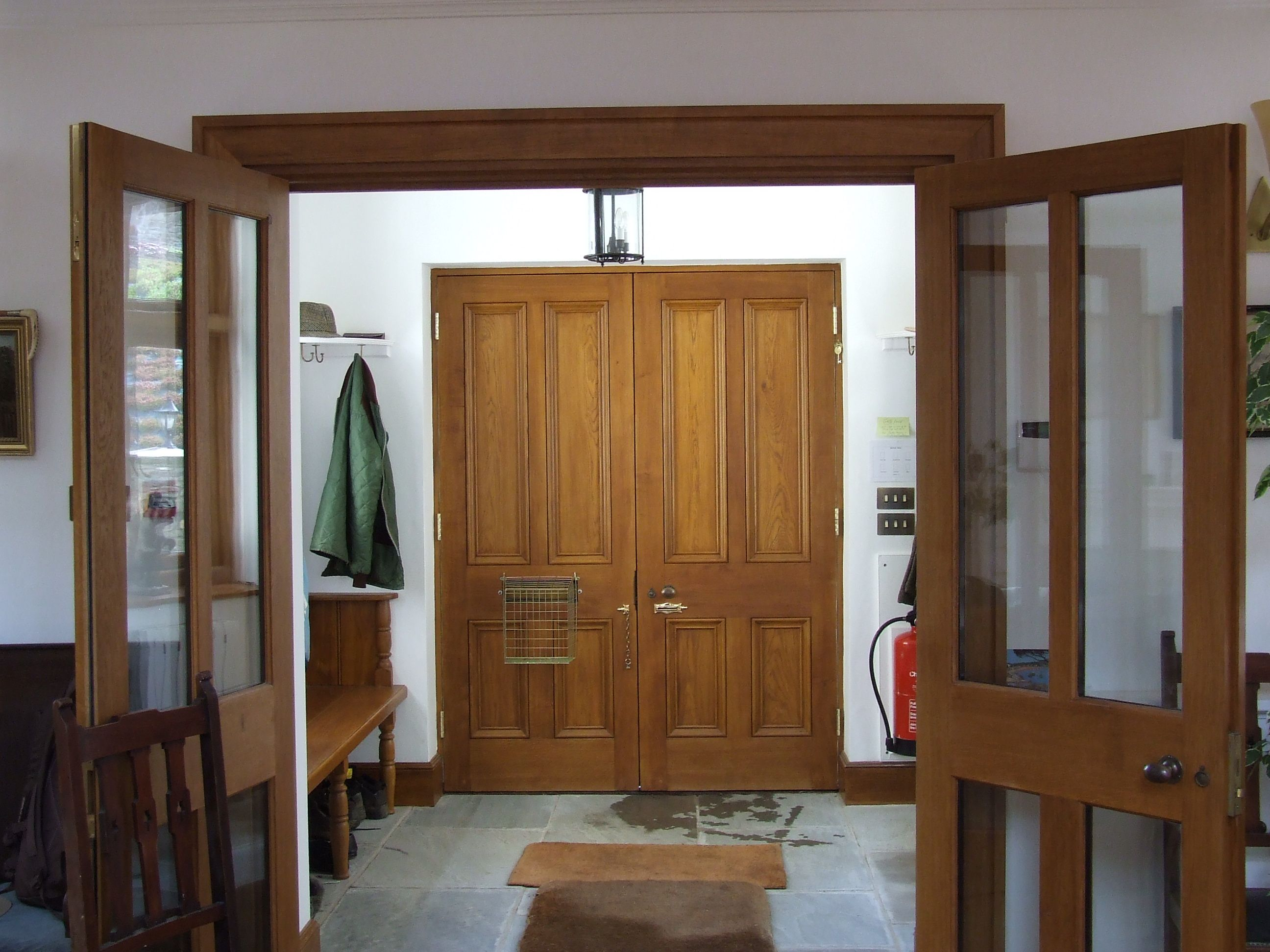 A Set Of External Oak Doors Coated With Sikkens Light Oak External Oak Doors Oak Doors Light Oak