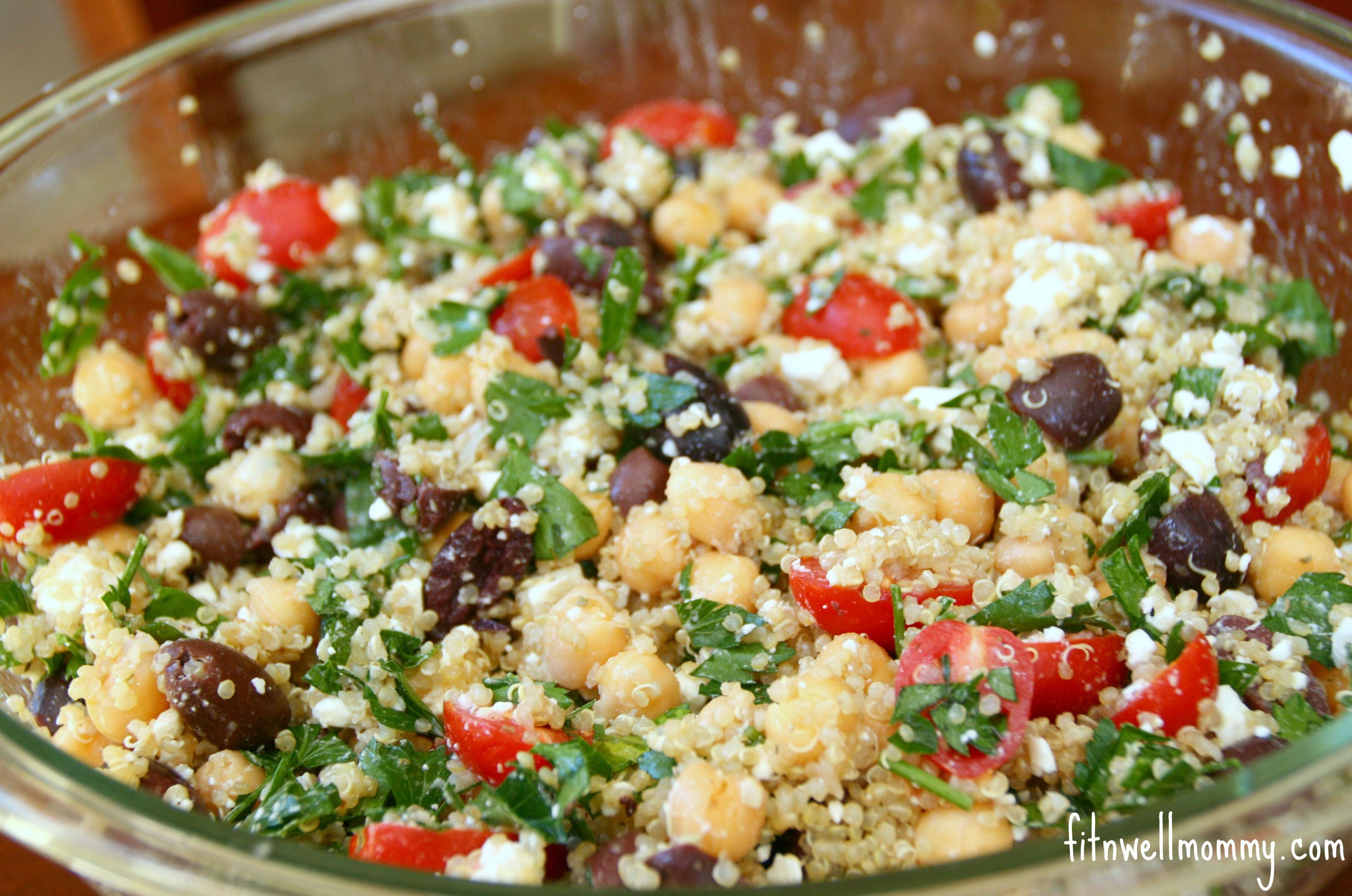 Mediterranean Quinoa Salad Recipes Pinterest Salad Quinoa