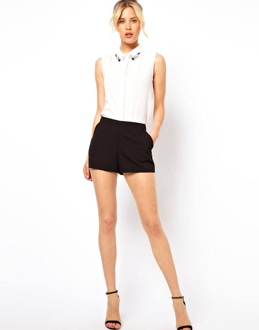 ASOS Tailored Shorts | clothing&shoes | Pinterest | Gonne, Short e ...