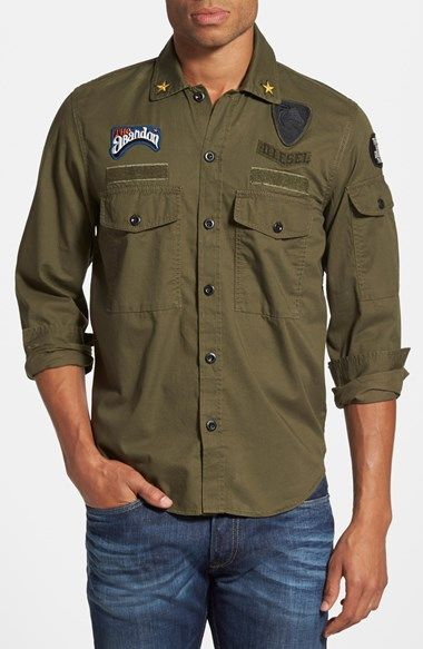 f19805645 Free shipping and returns on DIESEL® 'S-Pat' Military Shirt at Nordstrom