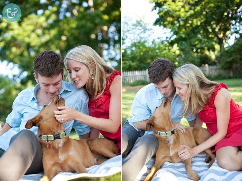 Max would have to be included in engagement pics for sure!   #robbinsbrothers  #getengaged