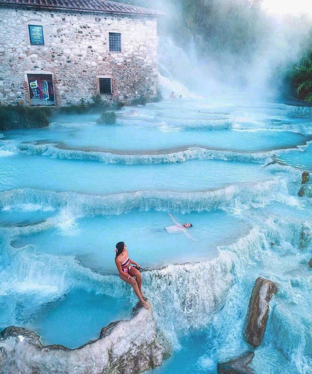 This Hot Springs Waterfall in Italy Is So Dreamy, You'll Think It Came Straight Out of a Fairy Tale #travel