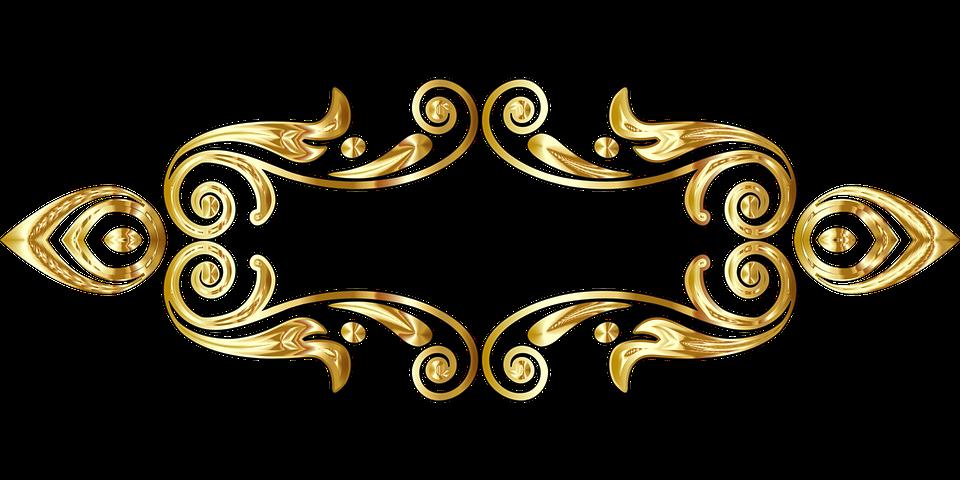 Free Image On Pixabay Divider Separator Gold Line Art Line Art Gold Scroll Saw Patterns