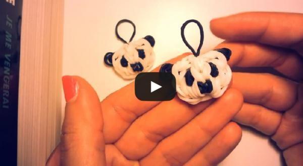 comment réaliser un panda avec des élastiques sans machine