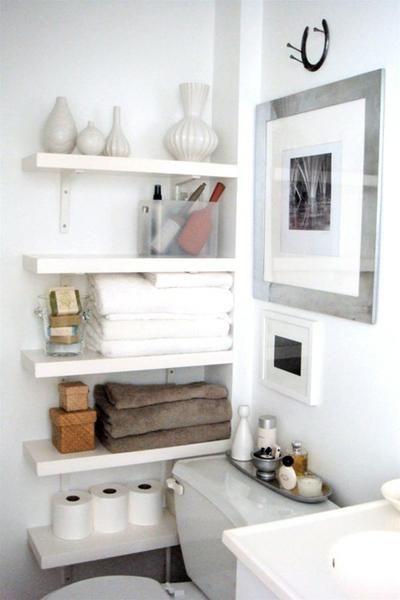 trick f r ein kleines badezimmer wenn kein schrank rein. Black Bedroom Furniture Sets. Home Design Ideas