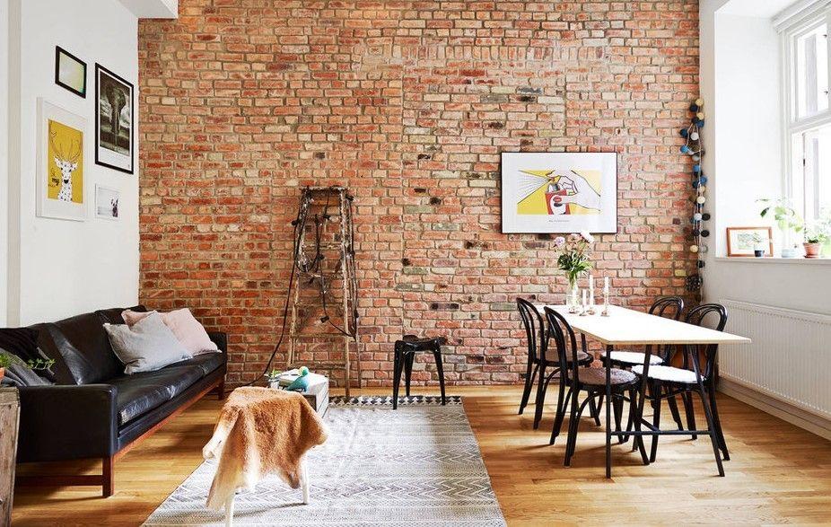 80 Best Brick Interior Decor Ideas Brick Wall Living Room Brick Interior Farmhouse Kitchen Design