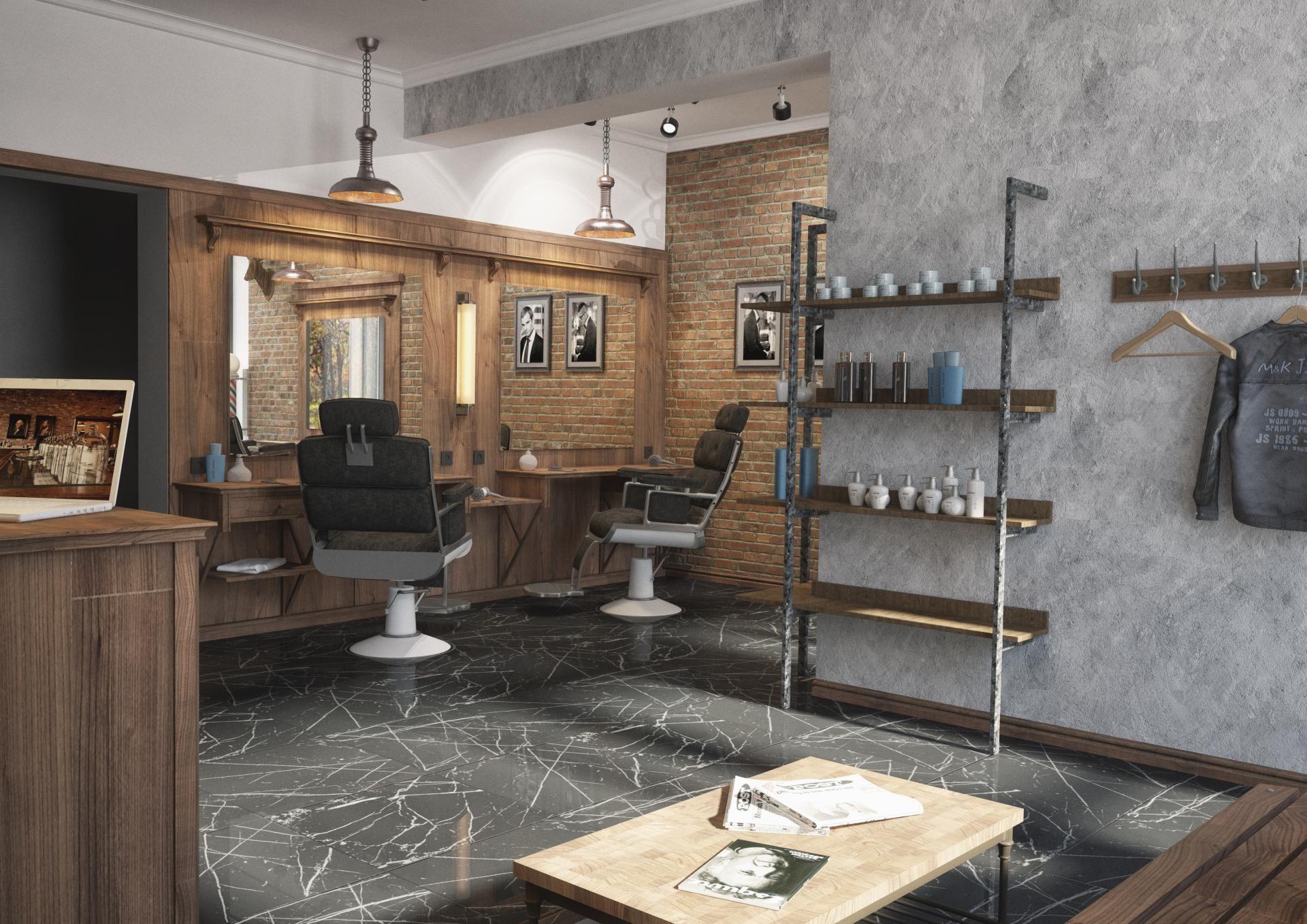 Winchester Barber Shop by «Grafit Architects» bureau #barbershop ...