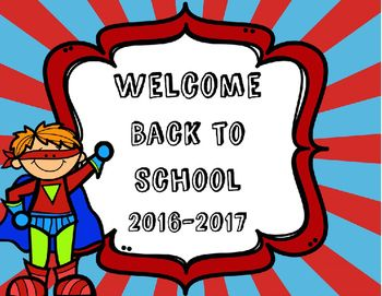 welcome back to school powerpoint for parents/students superhero, Powerpoint templates