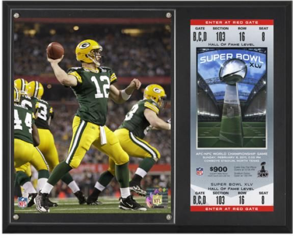 Aaron Rodgers Green Bay Packers Super Bowl XLV Sublimated 12