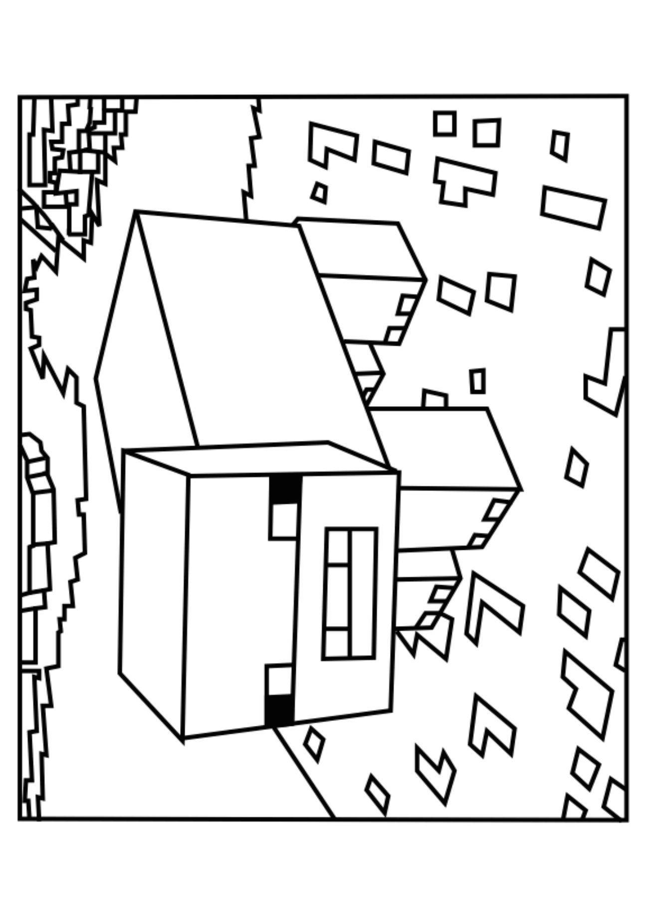 A Minecraft Pig coloring page