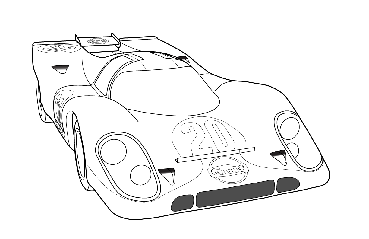 Gulf 917 Png 1224 792 Automoviles Autos Croquis