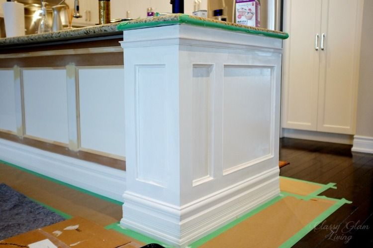 DIY Kitchen Island Makeover Paint matching, Diy kitchen island and