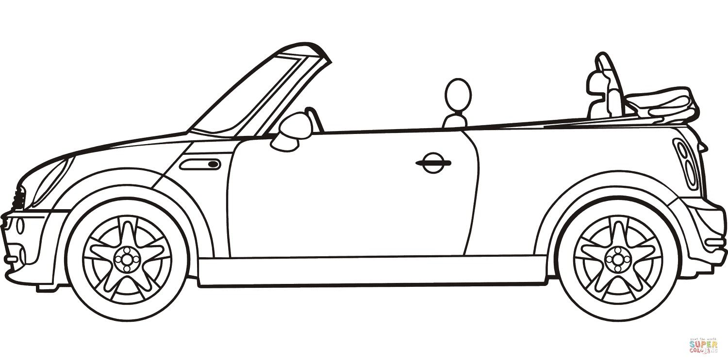 Best Of Convertible Car Coloring Pages Mini Cooper Convertible Mini Cooper Mini Cabrio