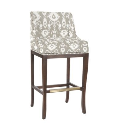 Marcello Counter Stool With Pewter Nail Head Trim European Inspired Home Furnishings Ballard Designs Upholstered Bar Stools Counter Stools Bar Stools