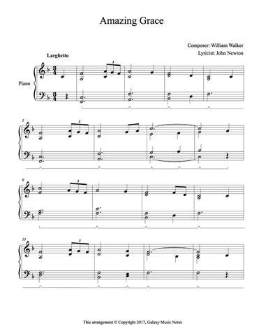 Amazing Grace Level 4 Piano Sheet Music With Images Piano