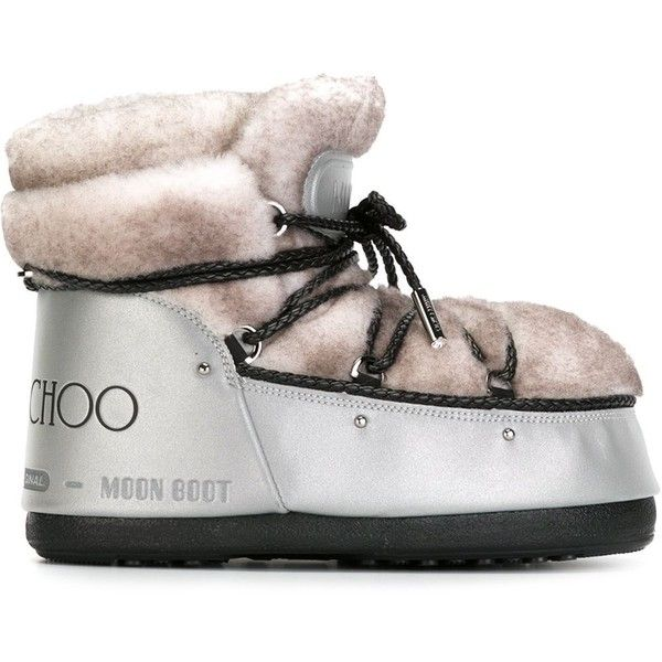 Jimmy Choo x Moon Boot Shearling-Trimmed Booties discount comfortable discount shop offer affordable for sale PUgnAKk7