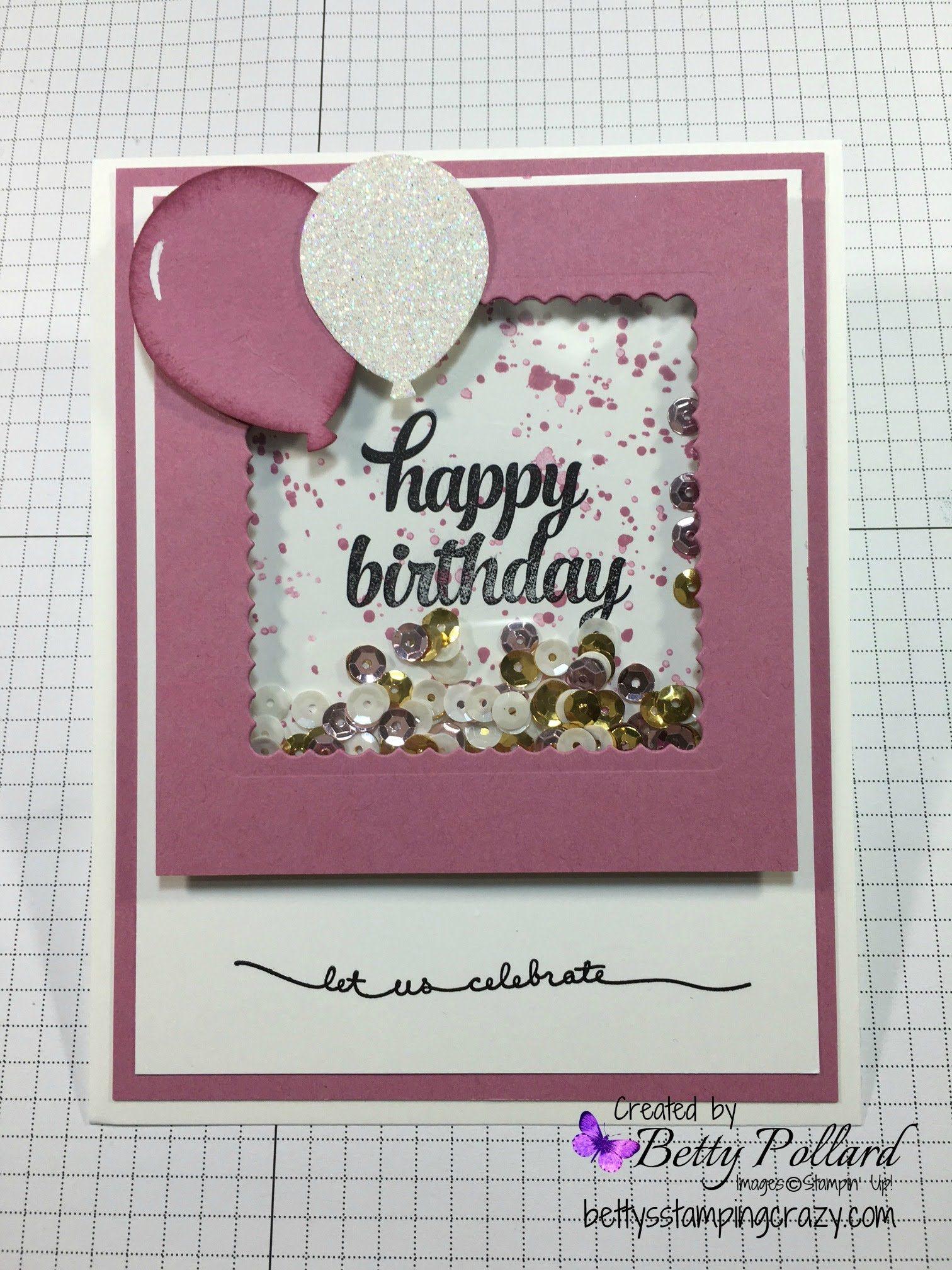 Happy Birthday Shaker Card Cartes Tags Pinterest Happy