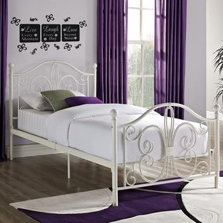 dhp bombay metal finial detailing twin bed by dhp - Steel Twin Bed Frame