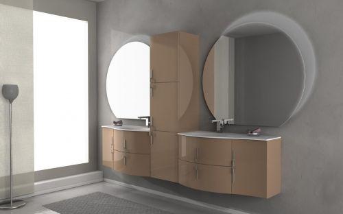 Mobile bagno moderno stiven cm in colori arrotondato