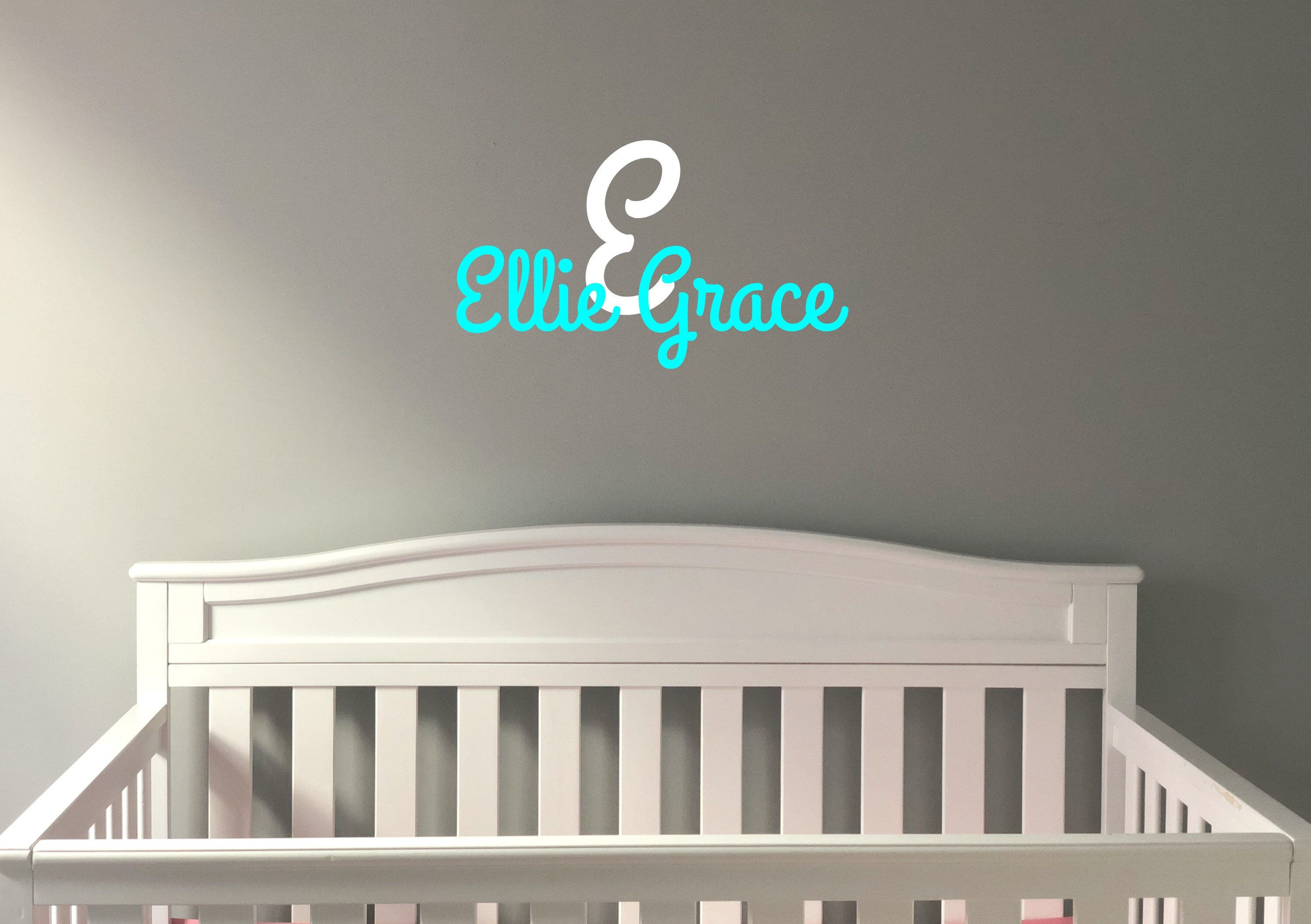 Nursery Name Decal, Baby Wall Art, Nursery Wall Decals, Baby