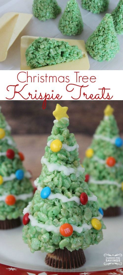 Easy Christmas Tree Treats Recipe! Cute Dessert or Holiday Party
