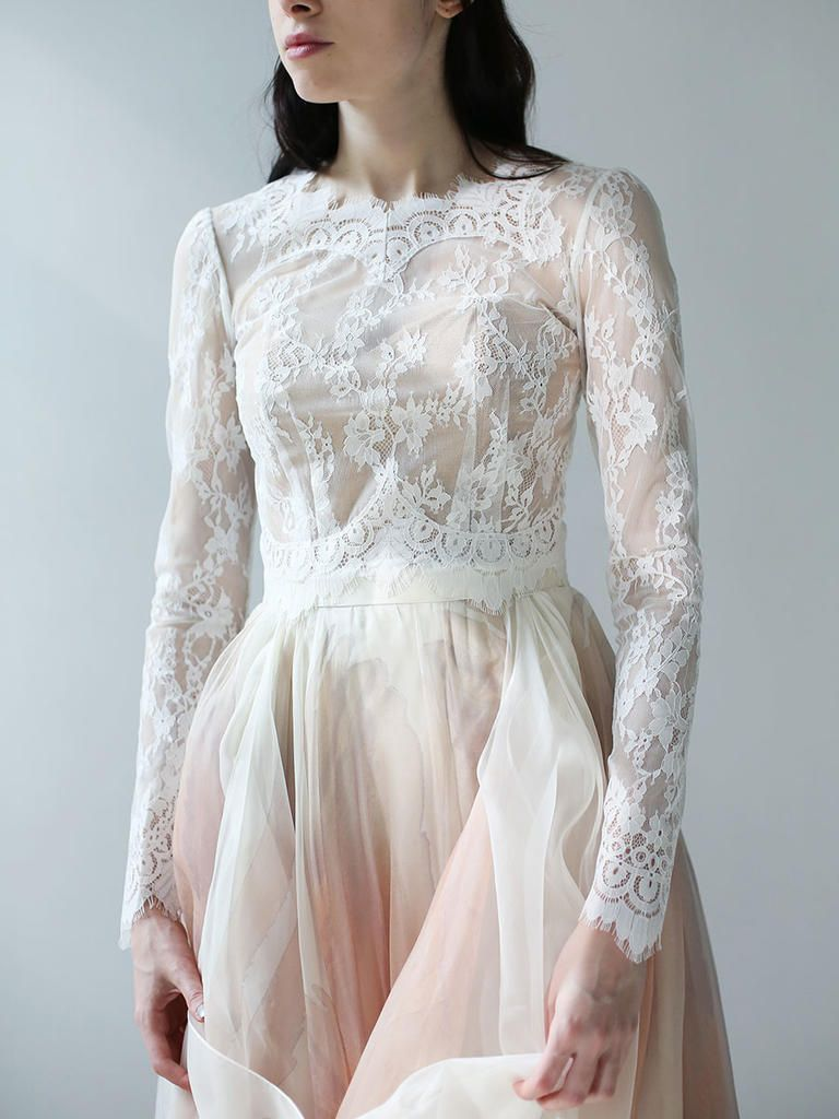 Leanne Marshall Spring 2018: Dreamy Lace and Watercolor-Inspired Wedding Dresses  | TheKnot.com