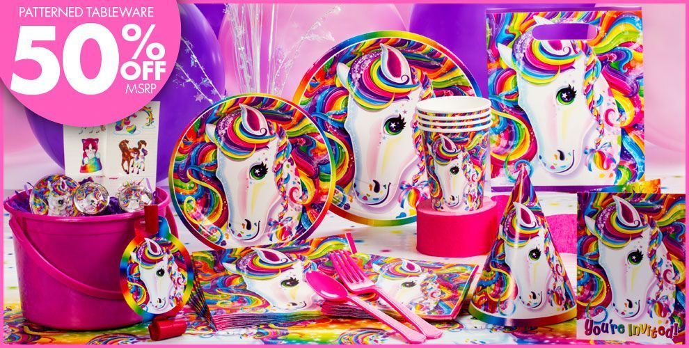 Invite Friends To The Celebration With Lisa Frank Invitations And Stickers Featuring Rainbow Majesty Description From Partycity