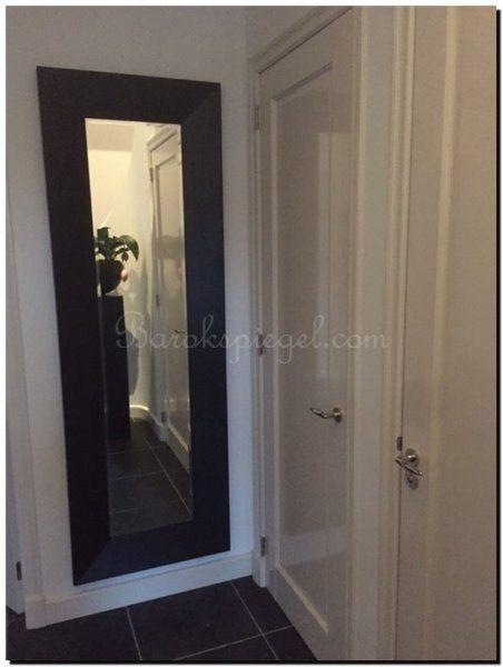Moderne zwarte spiegel brede lijst in de hal te koop bij for Grote spiegels te koop