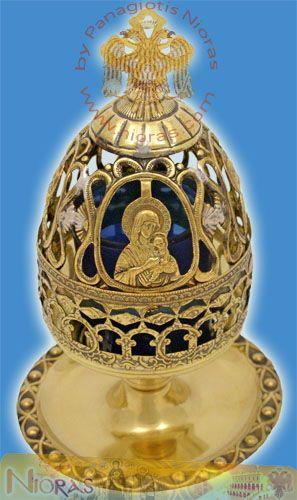 Artistic Theotokos Cup Desing Bronze